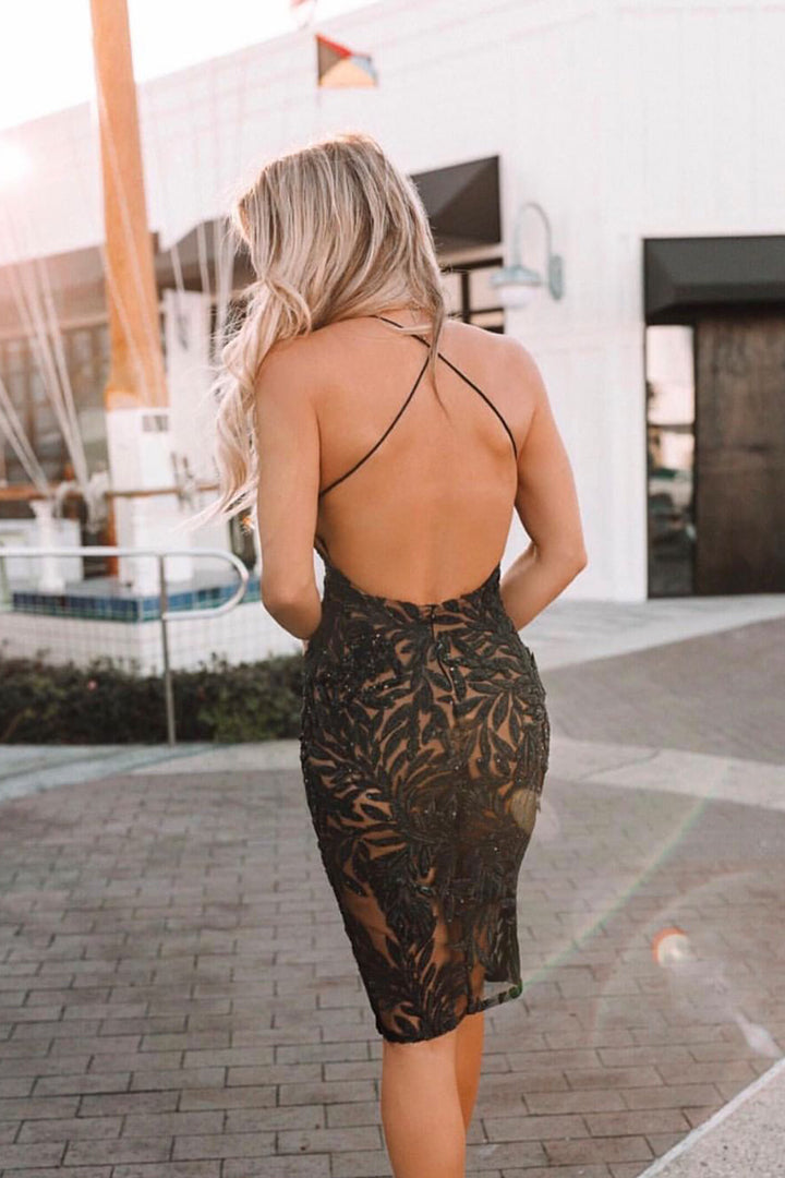Lace Up Floral Print Backless Bandage Dress - iulover