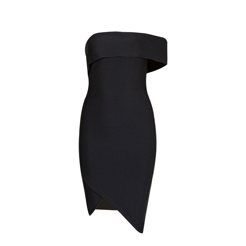 Cut Out One Shoulder Sexy Party Bandage Dress - iulover