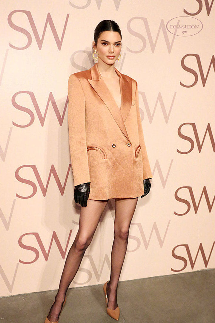 Kendall Jenner - Chic Dress Copper Blazer - iulover