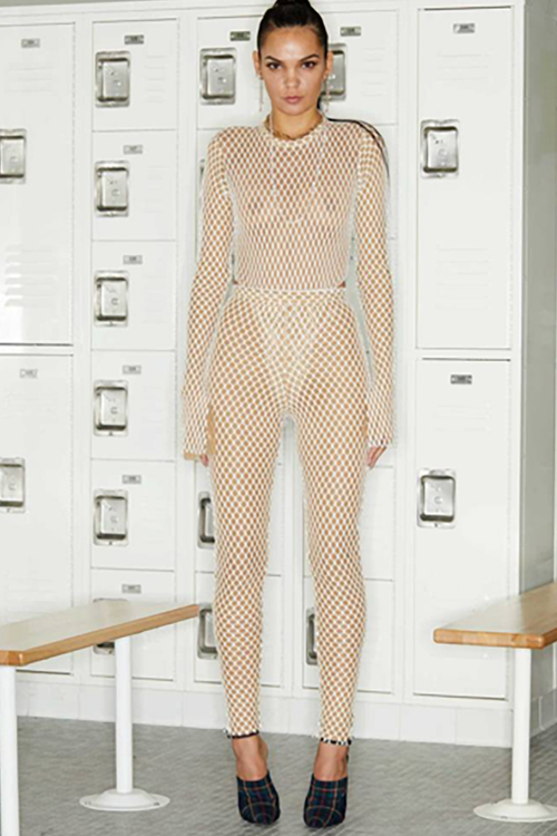 Khloe Kardashian Totally See-Through Bodysuit