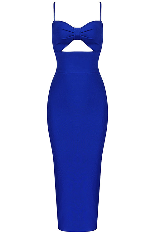 Royal Blue Strappy Bandage Dress