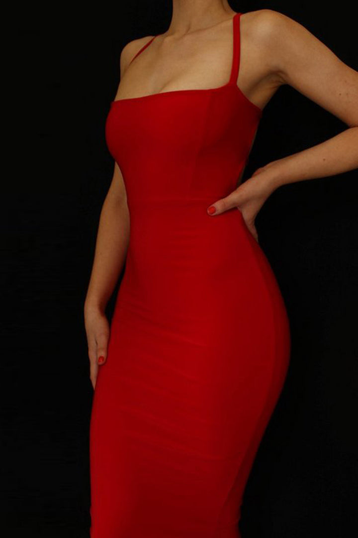 Sexy Spaghetti Strap Backless Bandage Dress - iulover