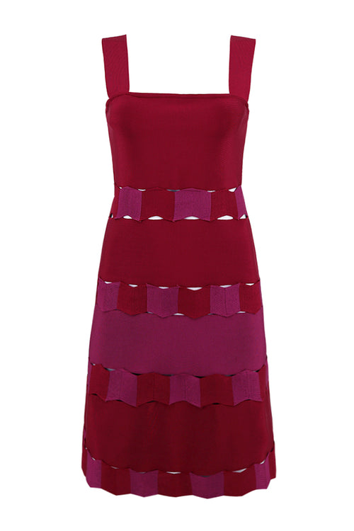 Halter Wine Bandage Dress - iulover