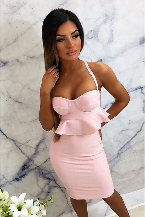 Spaghetti Strap Bandage Dress - iulover