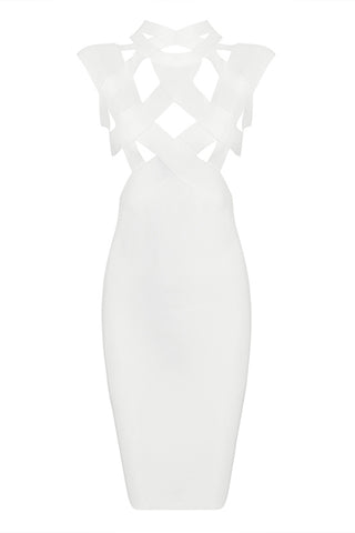 Cut out Cross ON-Neck Hollow Out Sexy Bandage Dress Various Colours