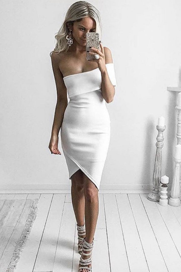Cut Out One Shoulder Sexy Party Bandage Dress