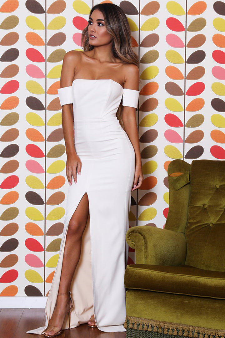 0beb93d868 Off Shoulder Strapless Bandage Dress