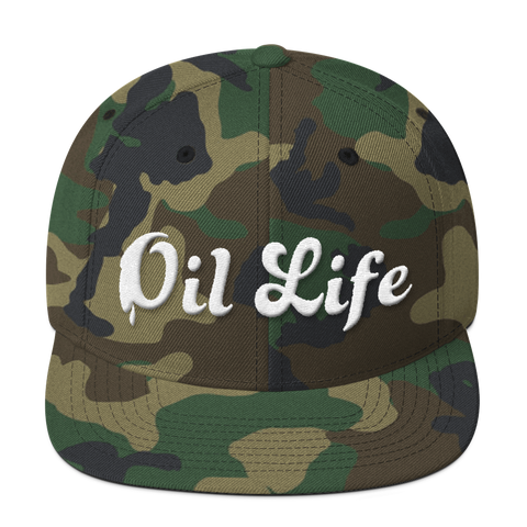 Camo Oil Life Snap Back