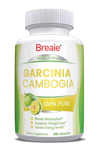 Garcinia Cambogia 100% Pure With 80% HCA Natural Appetite Suppressant