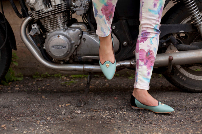 Poppy Barley Flats - The Feminine Slipper with Gold Foxhead Hardware