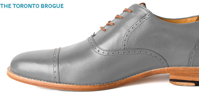 Men's made-to-order leather oxfords - The Toronto Brogue