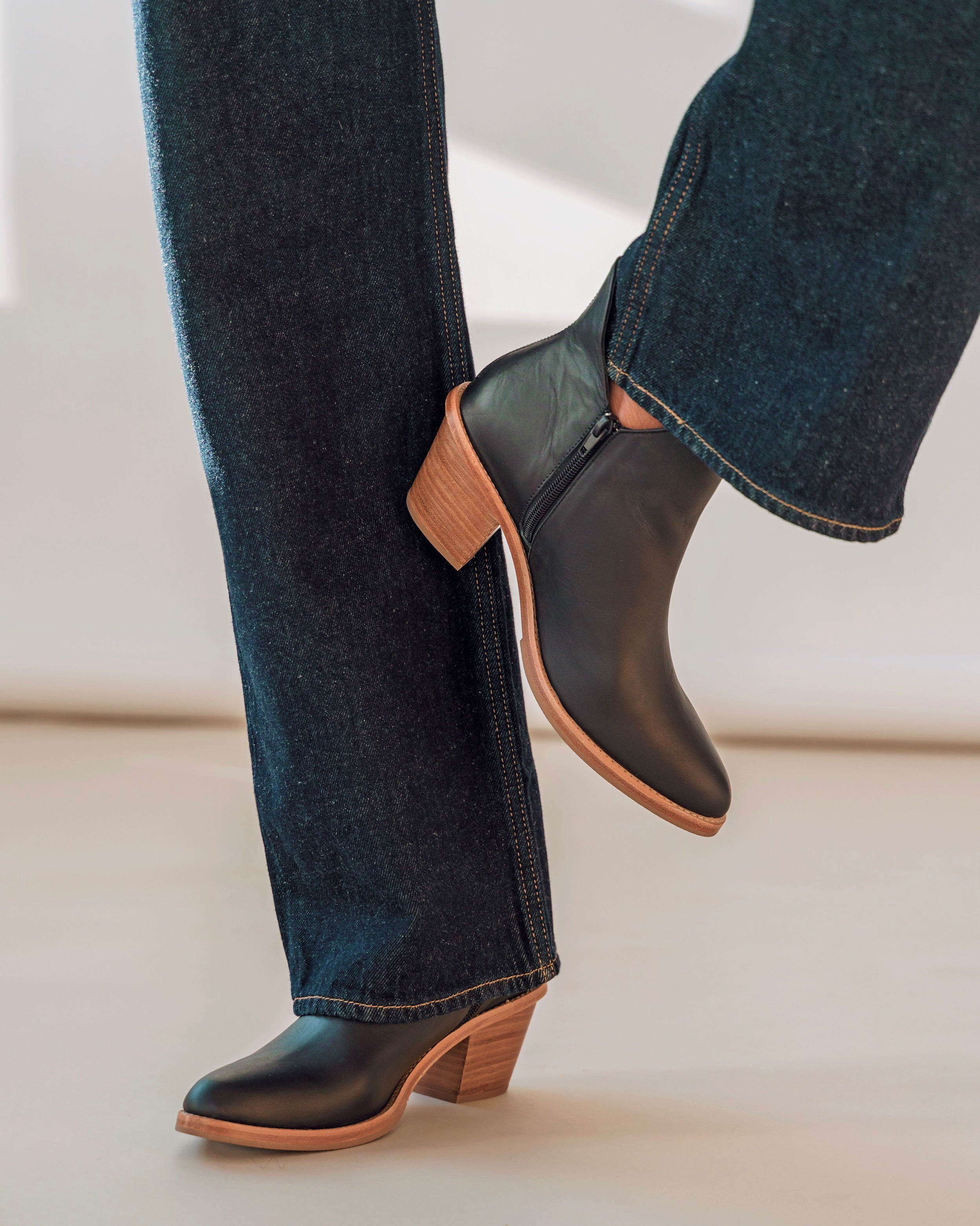 Ankle boots with bootcut jeans