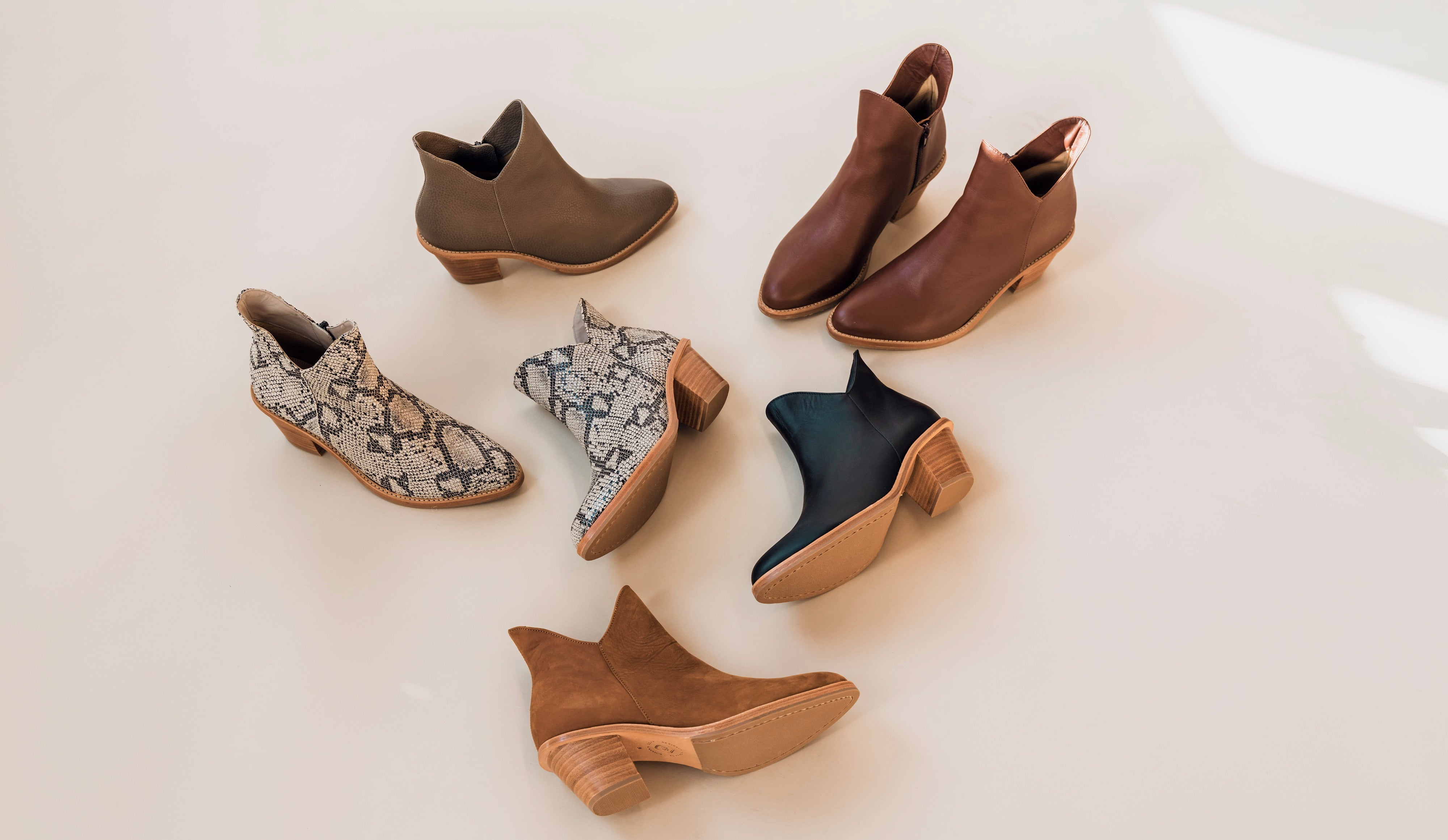 Flat lay photo of the two point five ankle boot