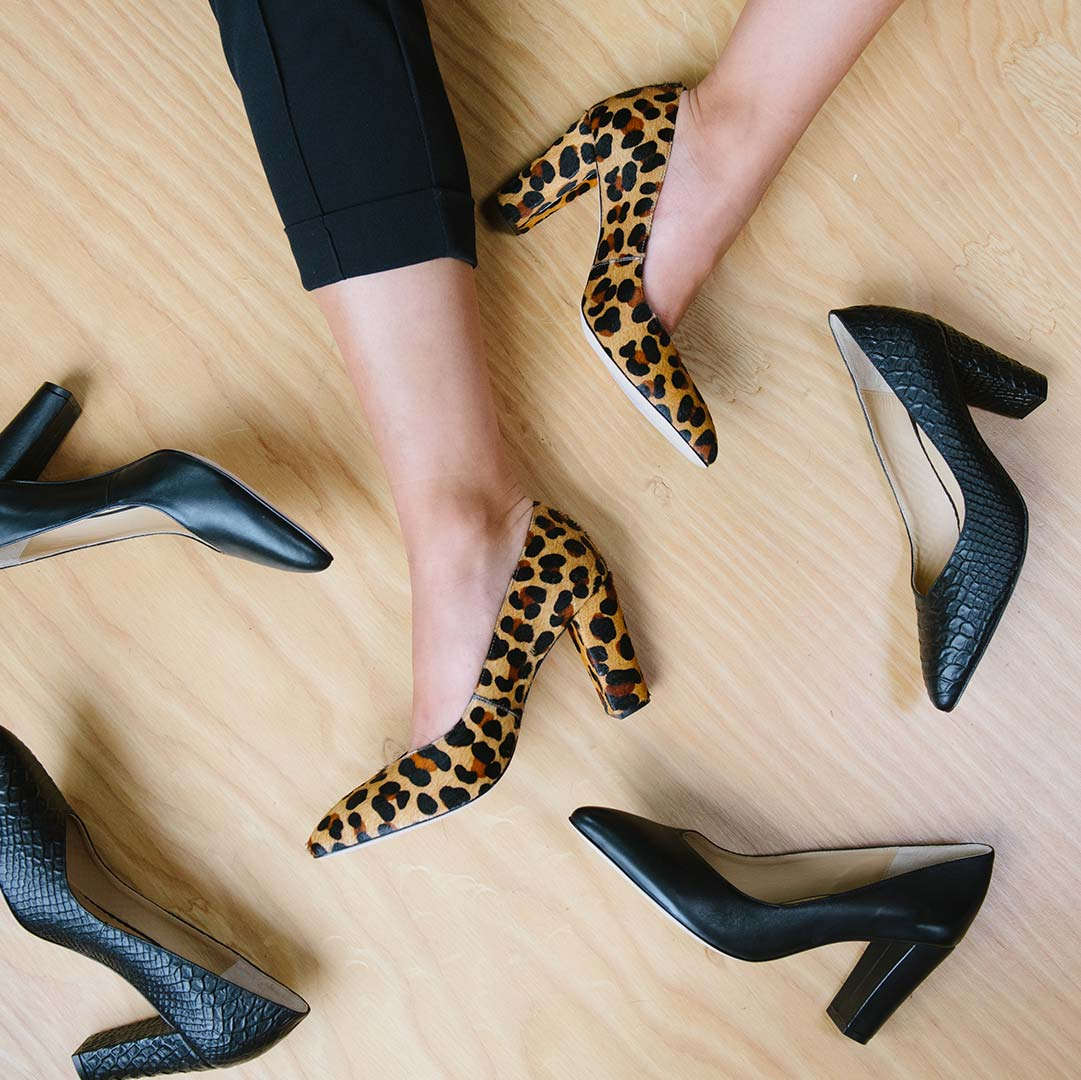 The Heels Collection - The Yonge Pump - Poppy Barley