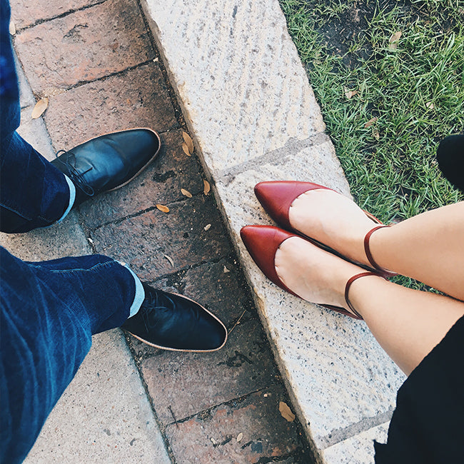 His & Hers Poppy Barley shoes in Austin, Texas - How to Work Remotely - Poppy Barley