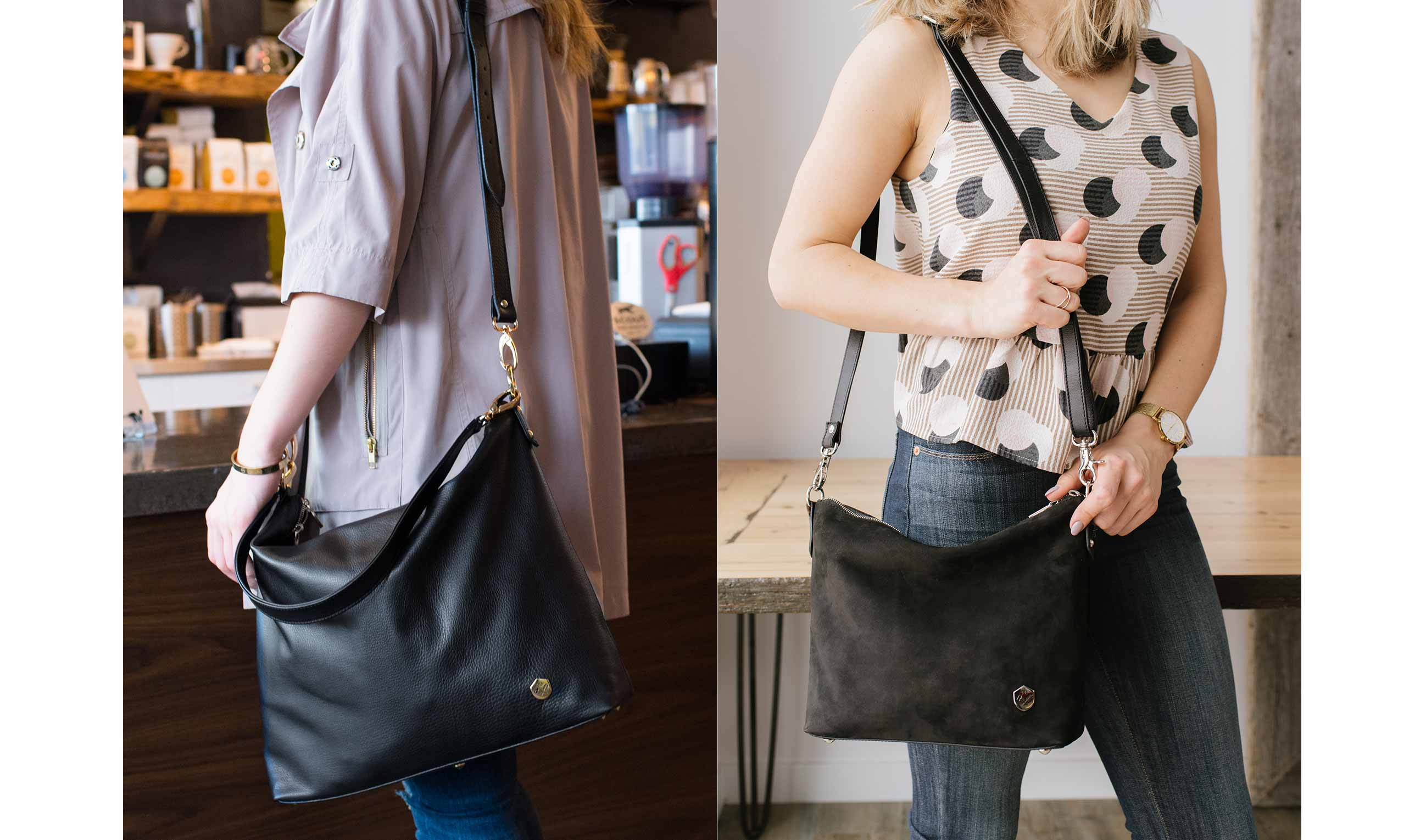 The Hobo Tote in Black -  Poppy Barley
