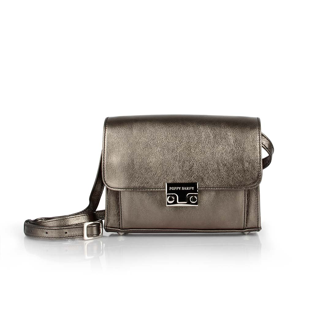 The Mini Shoulder Satchel Graphite - Poppy Barley