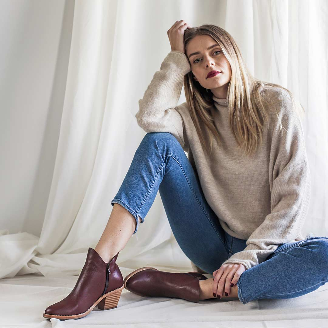 The Holiday Footwear - The Two Point Five Ankle Boot - Poppy Barley