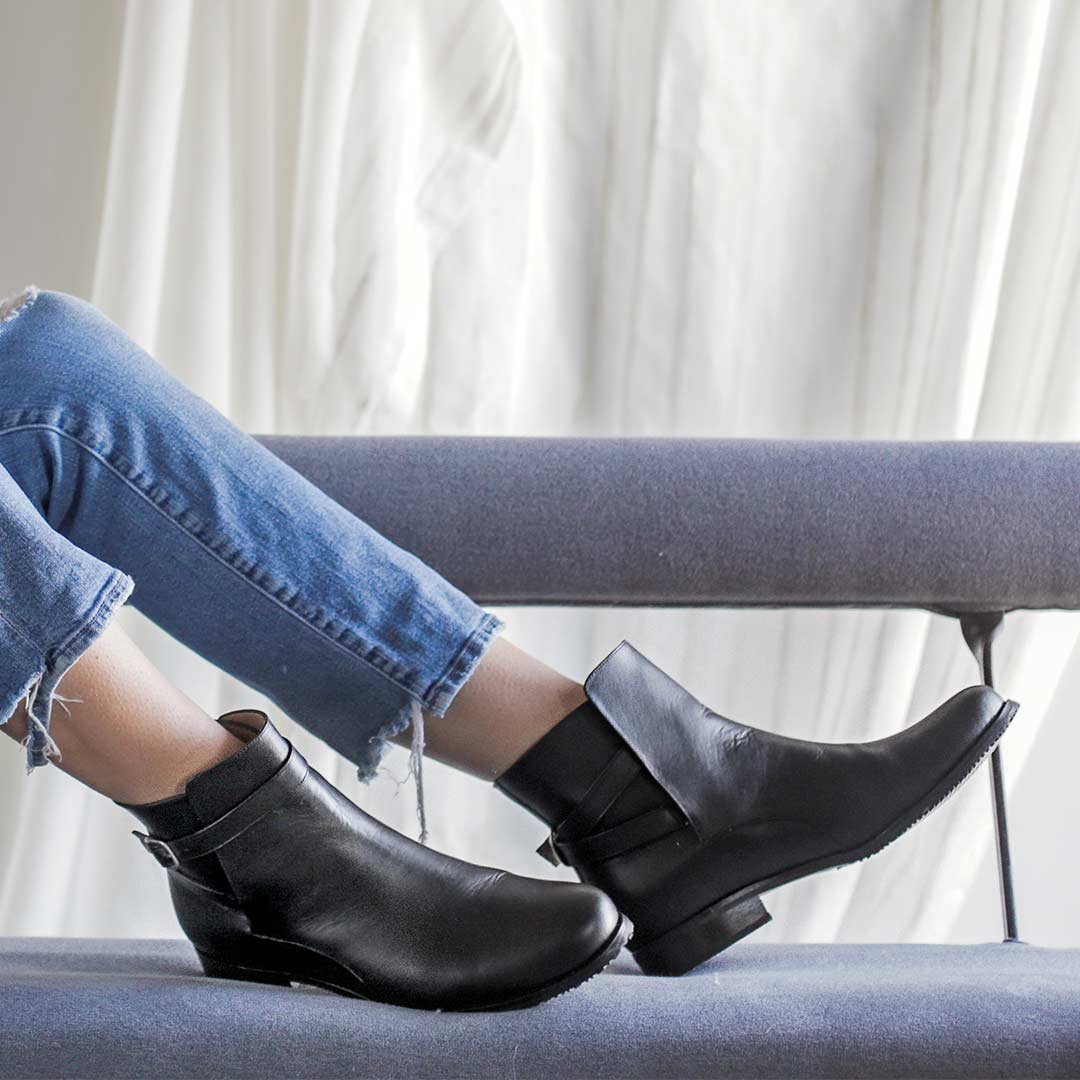 The Holiday Footwear - The Motto Boot - Poppy Barley