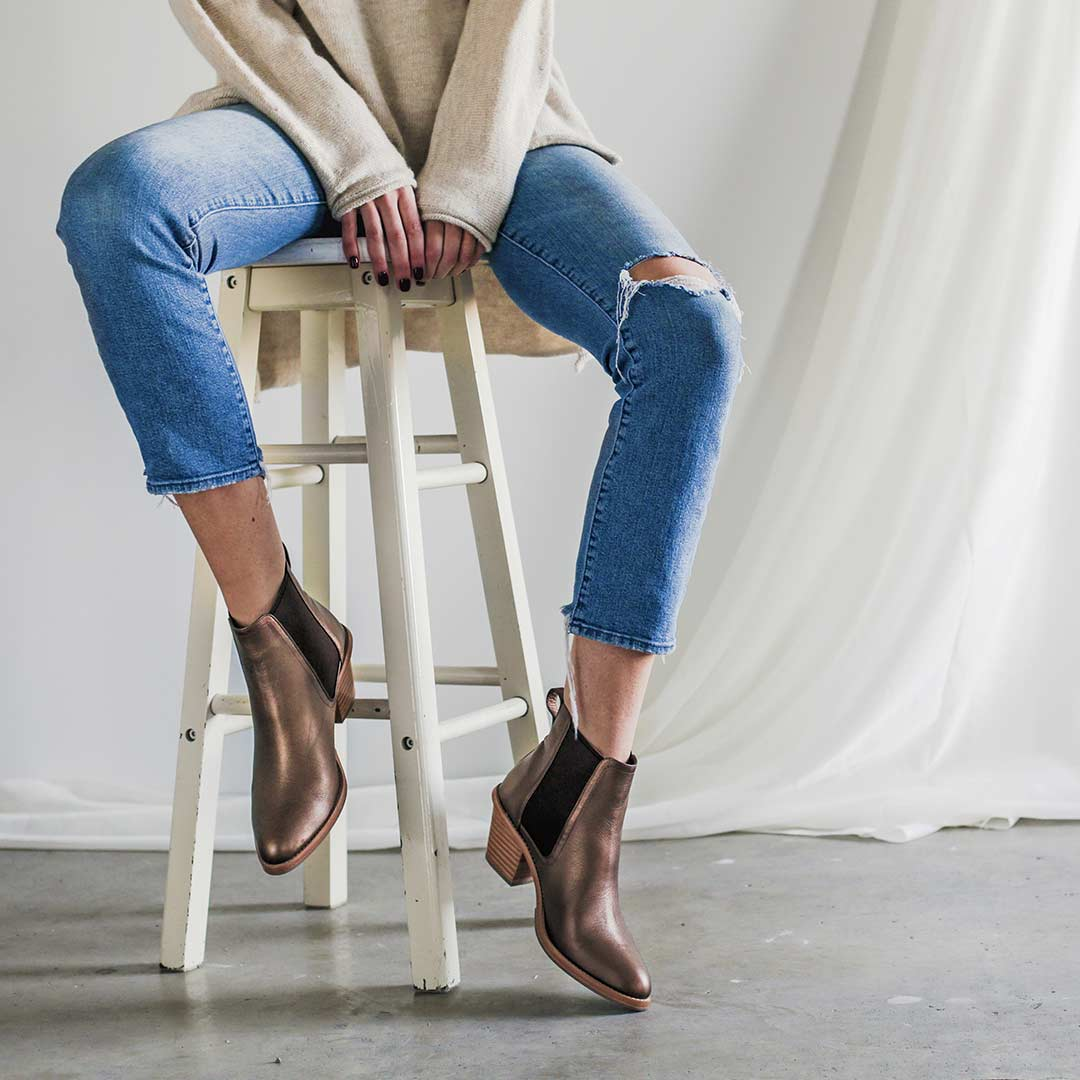 The Holiday Footwear - The Heeled Chelsea - Poppy Barley