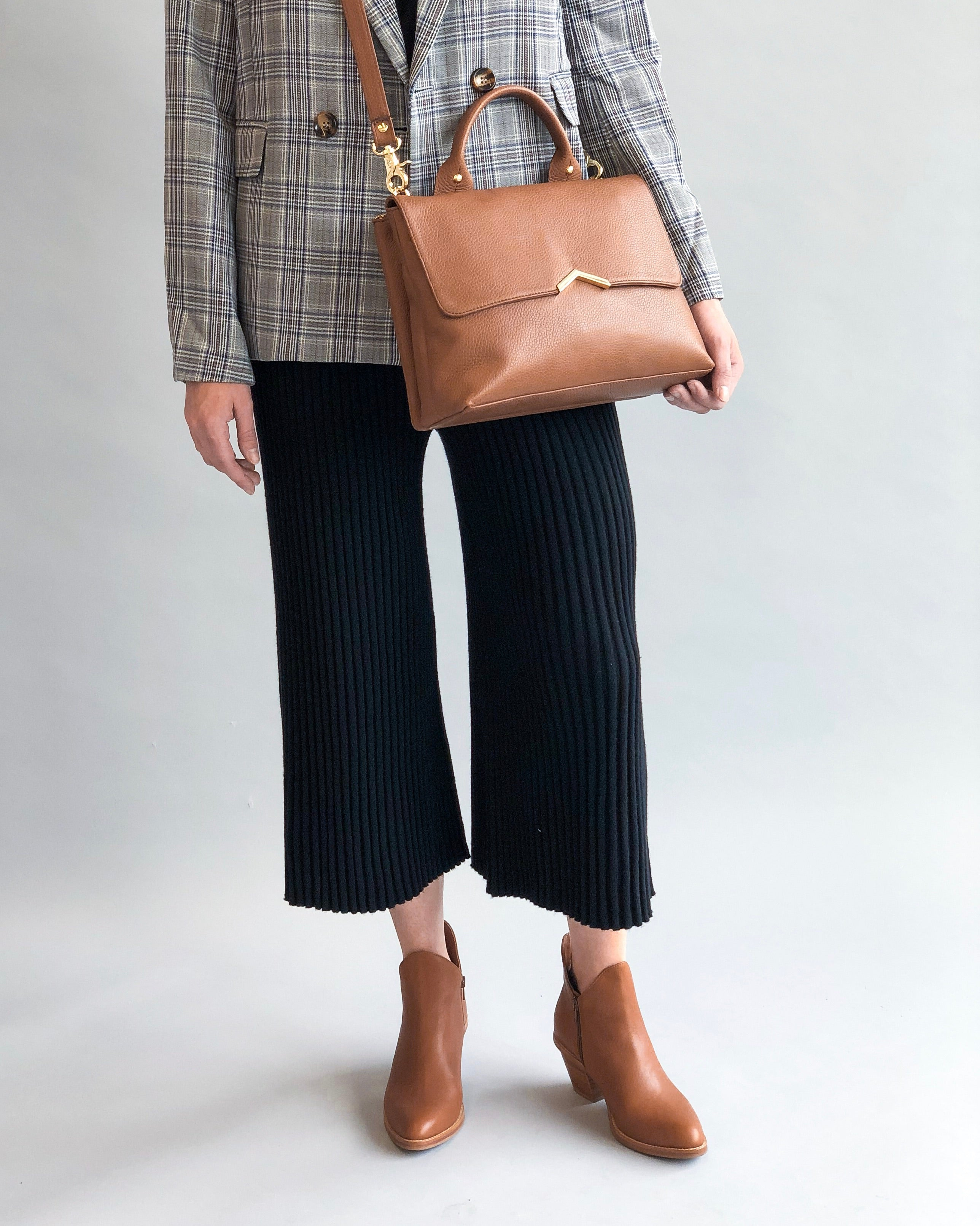 Ankle boots with cropped trousers
