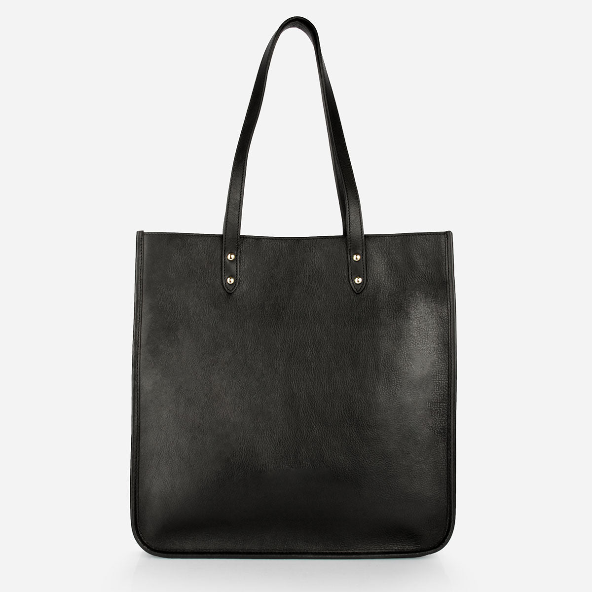 The Market Tote in Black- Poppy Barley