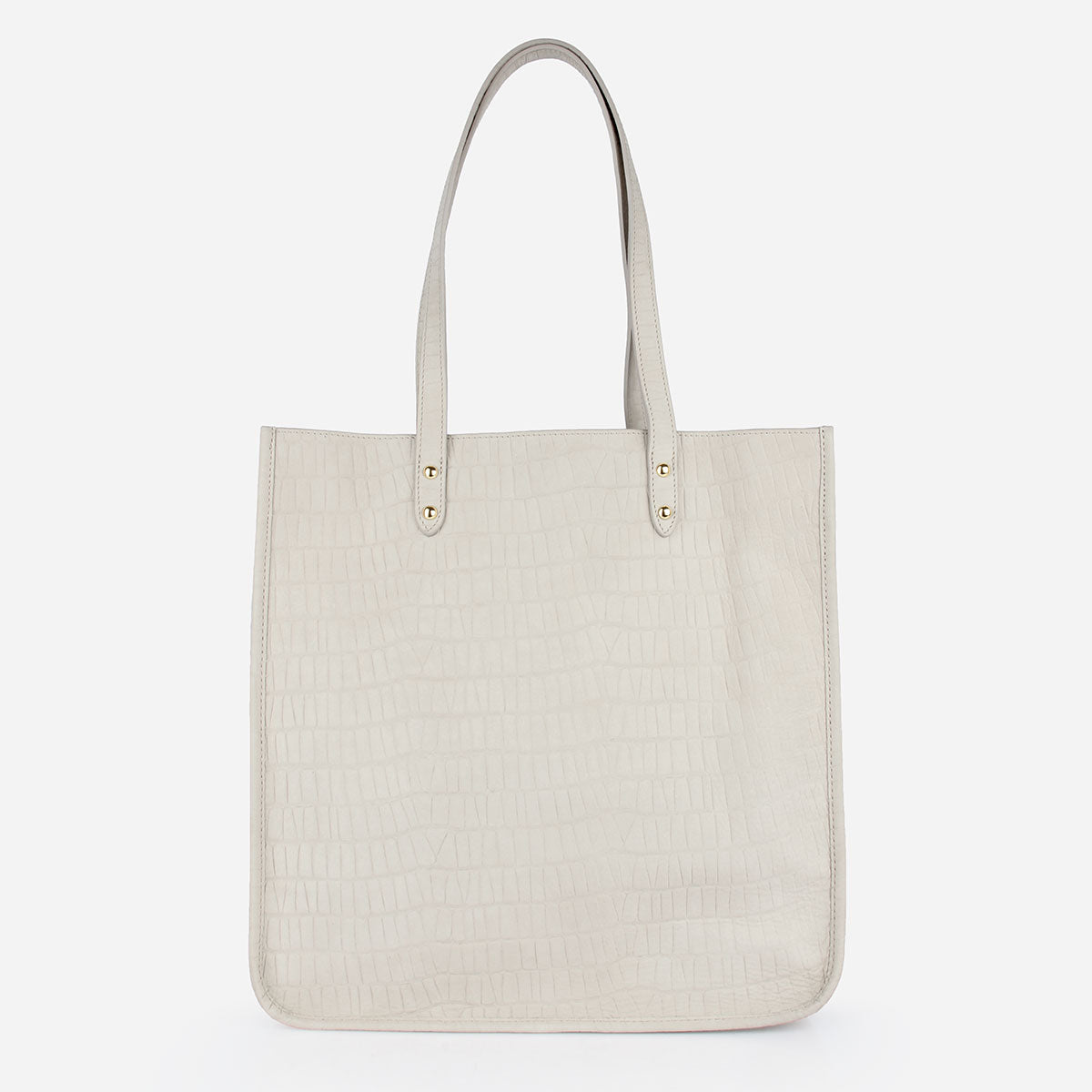 The Market Tote in Dove Grey Python- Poppy Barley