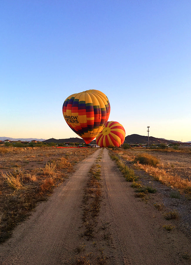 Hot Air Balloon in Phoenix, Arizona - How to Work Remotely - Poppy Barley