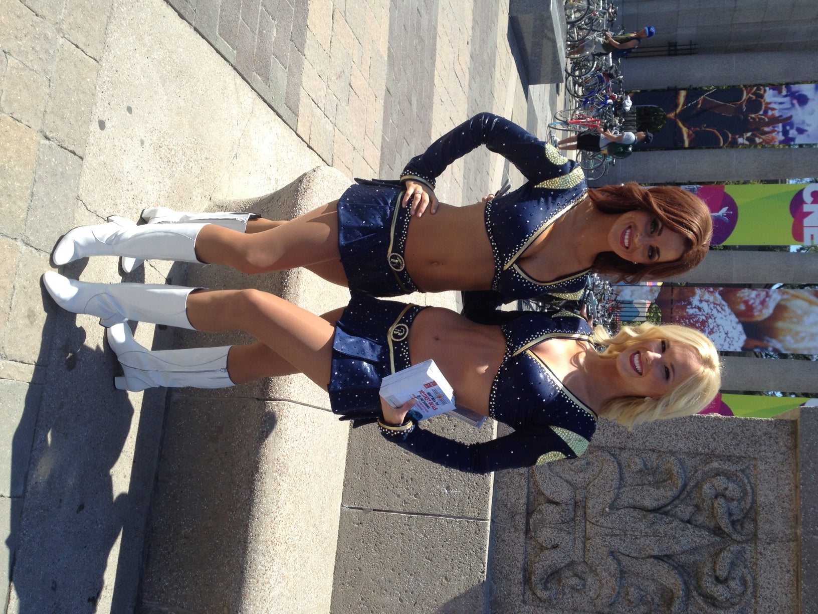 Custom Cheerleading Boots - Poppy Barley for the St. Louis Rams Cheerleaders. Poppy Barley offers custom boots and shoes sizes 5-15 in a variety of boots, flats, and ankle booties.