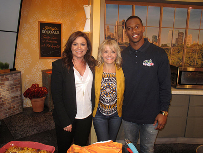 Kelsey Nixon wears Poppy Barley Ankle Boots on Rachel Ray
