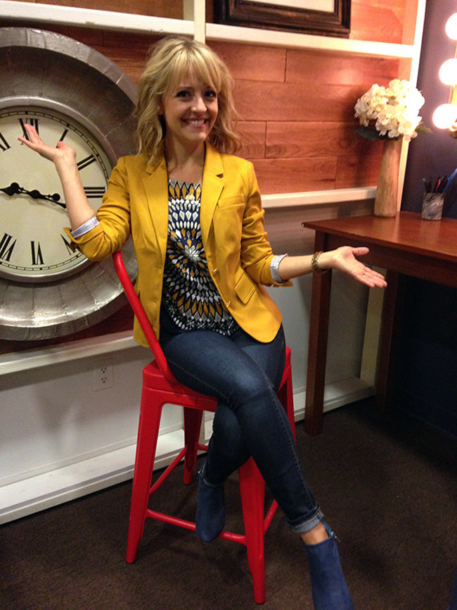 Kelsey Nixon wears Poppy Barley Ankle Boots on Rachel Ray. Poppy Barley offers custom shoes sizes 5-12, wide and narrow widths and calf fitted boots.