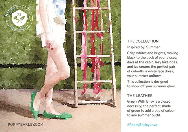 Poppy Barley Limited Edition Collection 01 Green With Envy Classic Point Art Card.