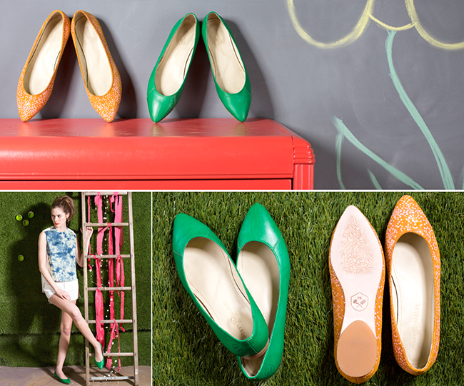 Poppy Barley Limited Edition Collection 01 - Green With Envy and Sunrise Confetti.