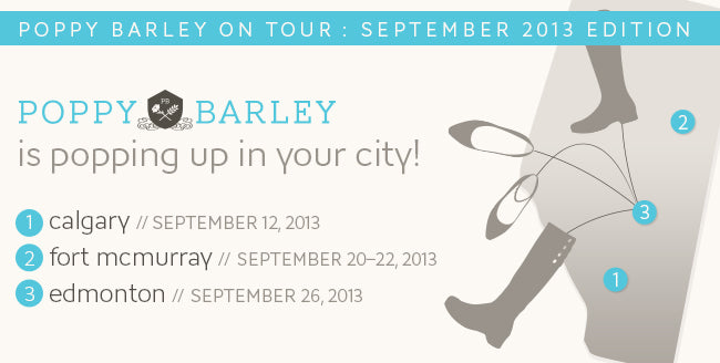 Poppy Barley Alberta popup sale dates September