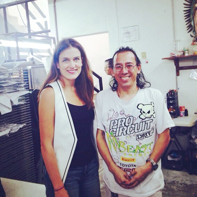 Poppy Barley co-founder Justine Barber at the studio in León, Mexico