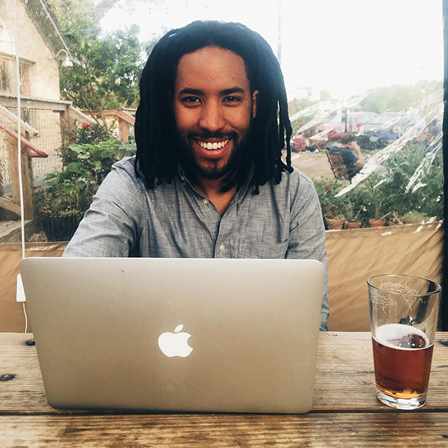 Kevin @ Radio Coffee & Beer, Austin, Texas - How to Work Remotely - Poppy Barley