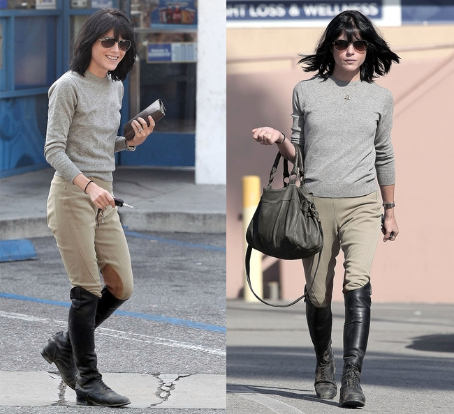 Selma Blair English Riding Boots