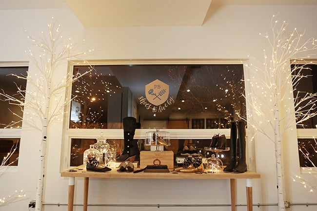 Poppy Barley Showroom - Modern Holiday Decor - Lights - Shoes - Photo by Andrea Hanki