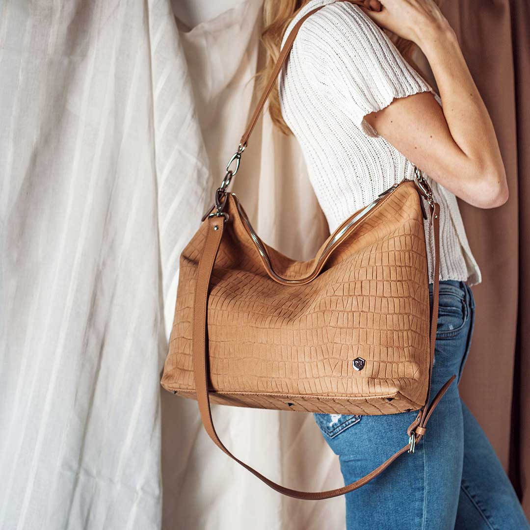The Spring 2019 Accessories - The Hobo Tote  - Poppy Barley