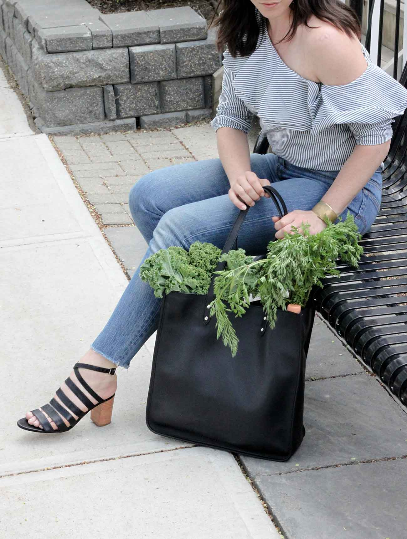 Style Guide - The Victoria Heeled Sandal and Market Tote - Poppy Barley