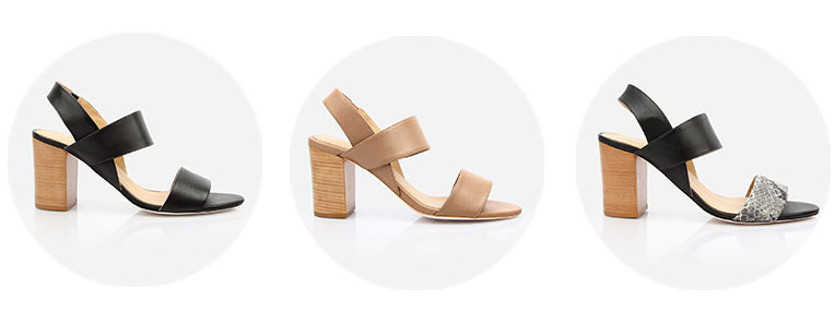 The Summerland Heeled Sandal  - Poppy Barley