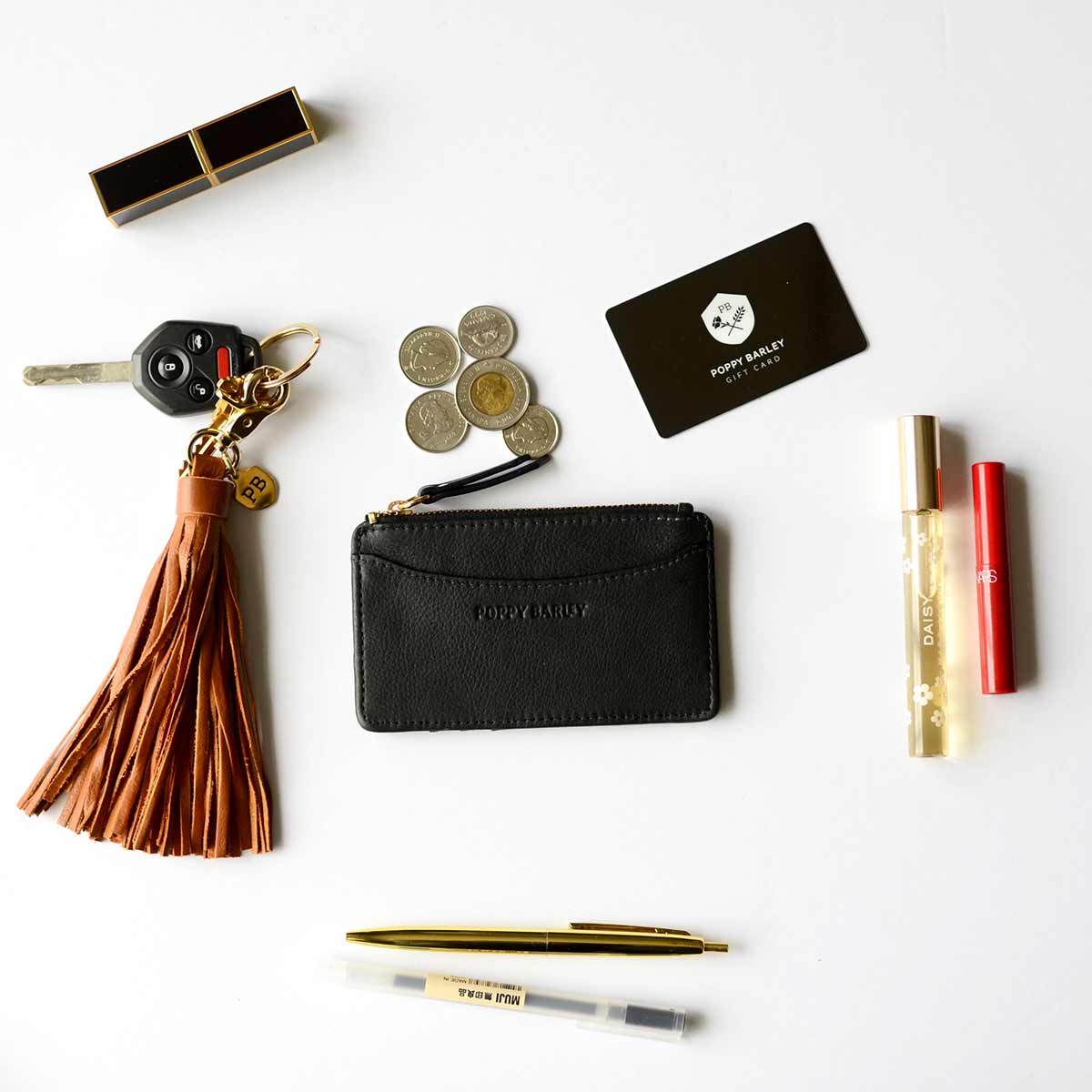 The Travel Zip Wallet - Poppy Barley