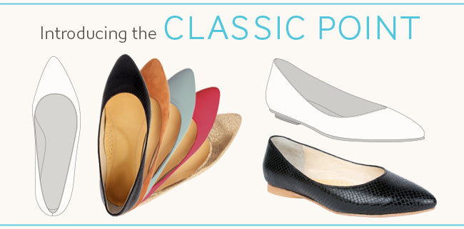Poppy Barley Classic Point Flat. Poppy Barley offers made-to-measure mens and women sizes 5-12, custom width in narrow, standard and wide.