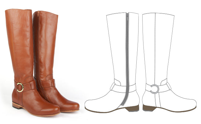 The Classic Riding Boot by Poppy Barley Made to Measure - Illustration