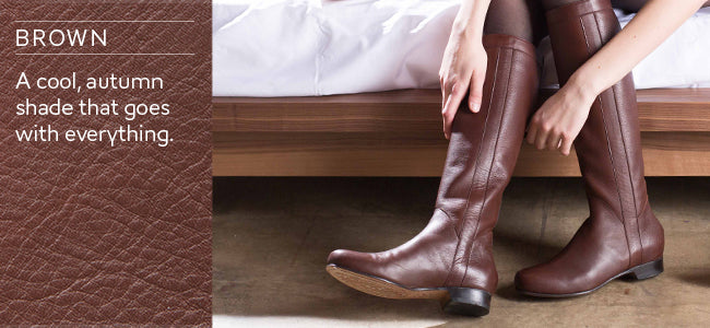Poppy Barley - Custom Boots - Leather Boots - Brown Boots - Tall Boots - Fall Boots