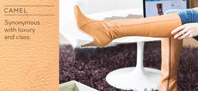 Poppy Barley - Custom Boots - Leather Boots- Camel - Fall Boots - Tall Boots