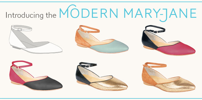 The Modern Mary-Jane Flat by Poppy Barely