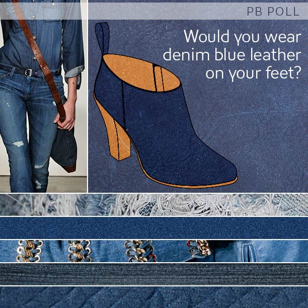 Product Development Poll: Denim Blue Ankle Boots