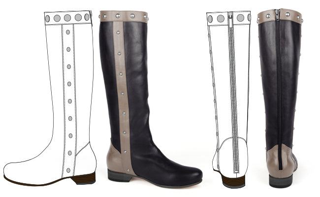 Poppy Barley Made to Measure Studded Downtown Boots