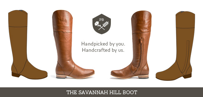 Poppy Barley | Leather Boots | Custom Boots | The Savannah Hill | Brown Leather Boots